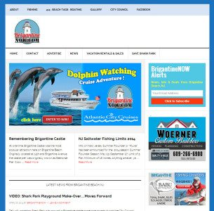 Brigantine wordpress newspaper atlantic city marketing advertising