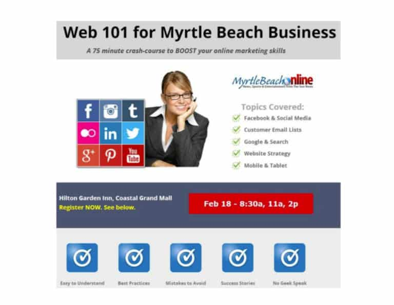 Web 101 for Local Business. Myrtle Beach. Feb 18, 2014